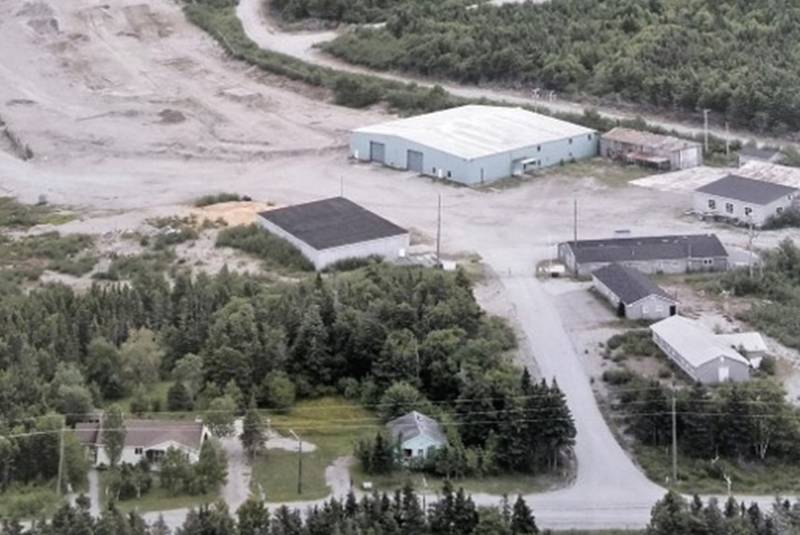 This is an aerial view of the location in Barachois Brook where a cannabis production facility is expected to be set up this year.