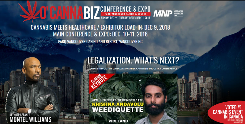 Legalization… What's Next?  Clear the Smoke at O'Cannabiz Conference and Expo Vancouver